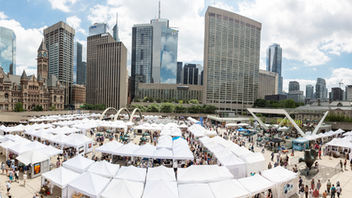 """Toronto About $2 million in art was sold at Canada's largest juried contemporary art fair this year, which featured 380 artists who showed their work at Nathan Philips Square and a crowd of 120,000 people. This year's theme was """"Art: unwalled,"""" acknowledging the inclusive and welcoming environment. Henderson Brewing Co. returned as a key sponsor. Next: July 2020"""