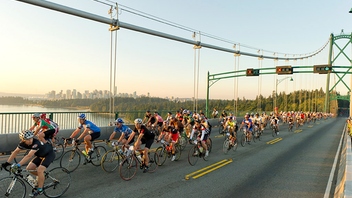 Vancouver to Whistler Now in its 10th year, participation in the largest cycling event in North America grew by 35 percent this year when it was designated a Union Cycliste Internationale qualifying event for the 2020 UCI Gran Fondo World Championships. RBC returned as the title sponsor. Next: September 12, 2020