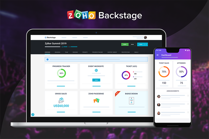 Run events smarter, better with Zoho Backstage.