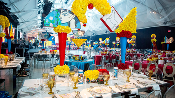Montreal This Canadian Cancer Society gala returned to Windsor Station this year where 600 attendees raised more than $1.37 million. The theme was a Tribute to Picasso, and decor included custom-made triangular tables to complement the Cubism theme. Three organizations, CIBC, Scotiabank, and Soprema, signed on to support the event for the next three consecutive years. Next: April 23, 2020
