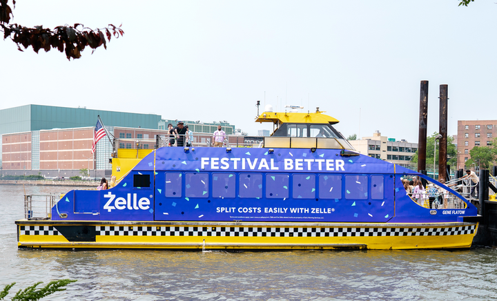 Governors Ball sponsor Zelle had its own V.I.P. ferry at the New York music festival in June. The digital payment service's purple-painted boat had two types of experiences for festivalgoers. On the way there, the ferry offered a party atmosphere with a local DJ, photo booths, and a performance from brand ambassadors to hype attendees. On the way back, the ferry offered guests an opportunity to wind down by providing water and purple eye masks. See more: Free Rides: How Major Events in Cities Are Making Attendee Transportation Easier