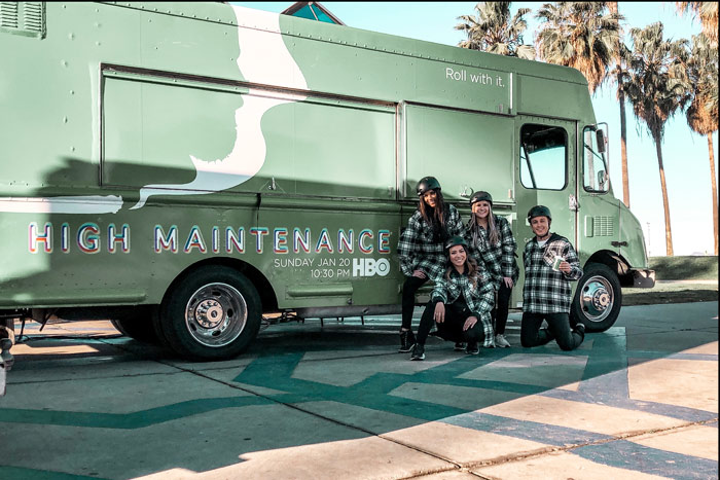 For the season three premiere of HBO's weed-theme comedy High Maintenance, the network partnered with Grandesign to serve free CBD (cannabidiol) lattes, drip coffee, and cold brew to passersby in Venice, California, and Williamsburg, Brooklyn, in January. Lattes were served from a branded truck by ambassadors wearing green flannels and helmets, inspired by the show's main character, who delivers weed to customers on a bike. See more: 25 Clever, Fun, or Just Plain Wacky Ideas From Recent TV and Film Premieres