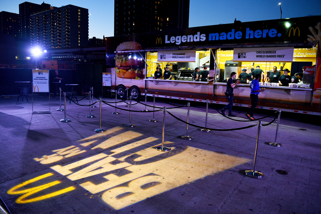 Naturally, McDonald's brings its own food trucks to the events, which feature the slogan 'Legends made here,' evoking the Beat of My City theme.