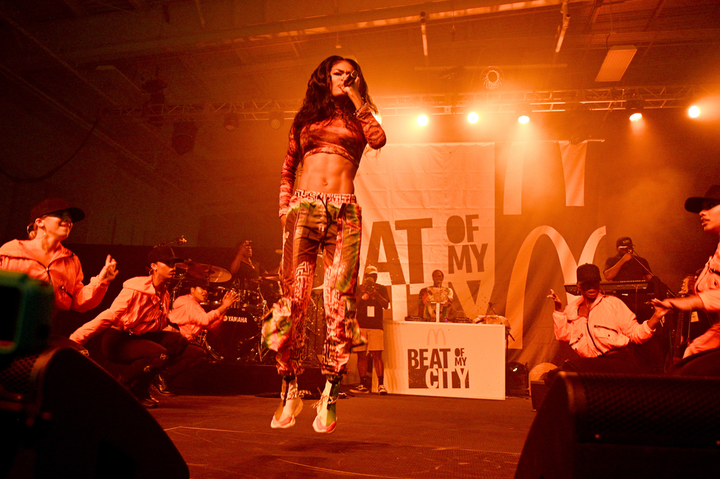 Teyana Taylor headlined the first concert for Beat of My City, which took place September 21 in Harlem. Taylor's performance supported the nonprofit Dunlevy Milbank Center.