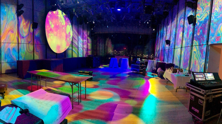 Psychedelic after-party for an annual gala.