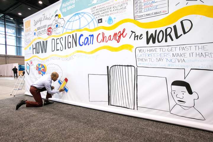 Event highlights included an interactive journaling wall, a live design battle, and 10-minute speed coaching sessions.