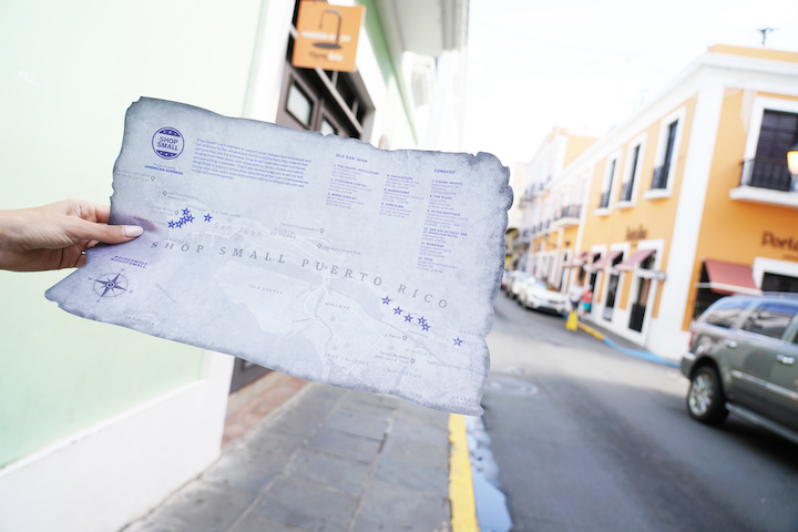 As part of American Express's commitment to supporting local businesses in Puerto Rico, attendees who took part in the brand's Hamilton-theme weekend were given special maps for shopping excursions. The maps featured local businesses in the areas of Old San Juan and Condado, close to resorts where guests were staying.