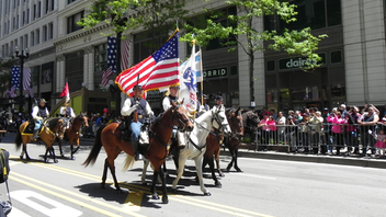 After a wreath-laying ceremony in Daley Plaza and a 21-gun salute, the parade steps off from State and Lake and ends at Van Buren Street. With thousands of onlookers, the event featured dozens of floats, marching bands, and Veterans groups. Next: May 25, 2020