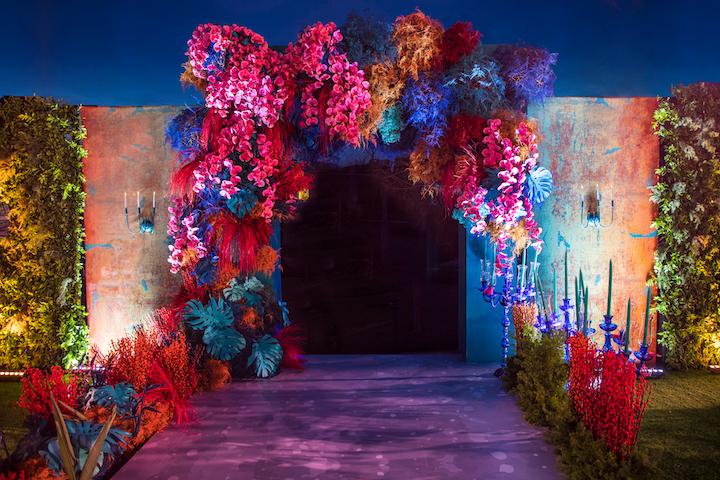 Bold & Eccentric Floral Backdrop.