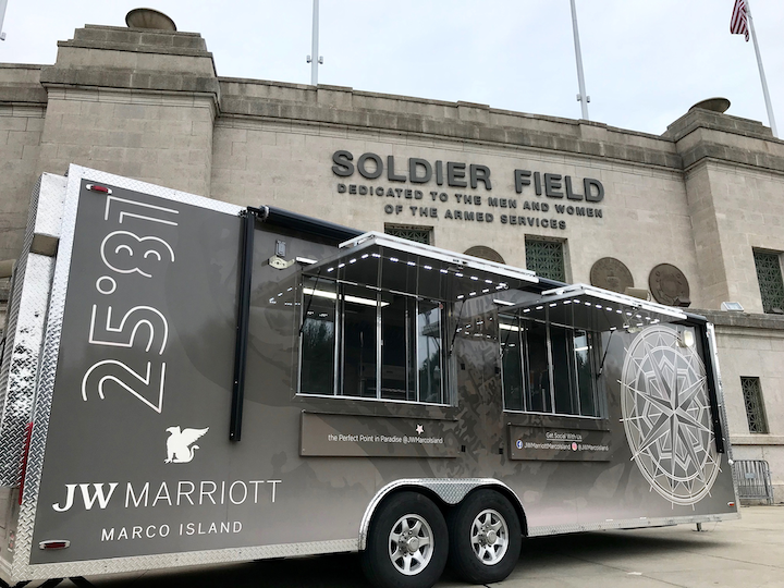 The Chicago episode of Man vs. Chef took place at Soldier Field.