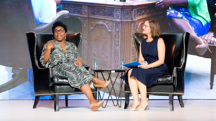 The Event Innovation Forum at BizBash Live: New York included a conversation with former White House social secretary Deesha Dyer and BizBash editor in chief Beth Kormanik. Dyer discussed her experience planning events during the Obama administration.