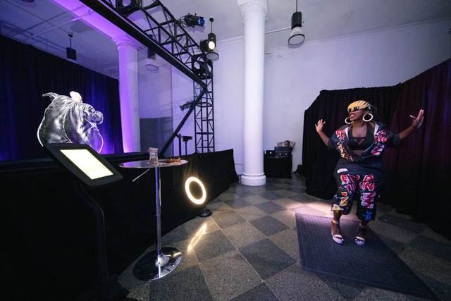At MTV's Museum of Missy Elliott, Vntana created a hologram for a video booth that rendered guests as the rapper in her iconic trash bag outfit.