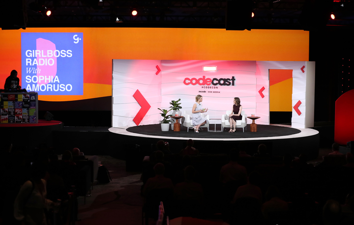 For the first time, the conference had a full day devoted to live podcasts. GirlBoss C.E.O. Sophia Amoruso recorded a 30-minute podcast with Mirror C.E.O. Brynn Putnam.