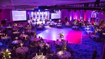 "The 2019 gala returned to the Hilton Chicago, where some 600 guests gathered to support the association. With a ""Key to Our Future"" theme, the event had decor inspired by the famous ""Love Lock"" bridge in Paris. The cocktail reception was inspired by the Moulin Rouge and featured violinists in showgirl attire. The event raised some $1 million. Next: May 9, 2020"