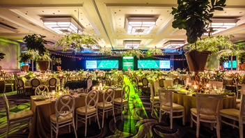 "This year's benefit, held at the Hilton Chicago, had the feel of a lavish garden party. Designers from HMR took the ""Where Hope Grows"" theme to heart, erecting a candlelit ""garden of hope"" at the cocktail reception and filling the dining space with willow-branch chandeliers. The event drew some 800 guests, and raised $2.1 million. As usual, it drew strong corporate sponsorship from the likes of Salesforce. At the after-party, the Barenaked Ladies performed. Next: April 18, 2020 See more: How Event Design Brought the American Cancer Society Gala's Mission to Life"