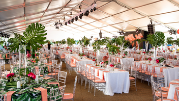 "The 2019 ball was dubbed ""A Feathered Affair"" and featured decor inspired by flamingos. (Some guests' pink outfits followed suit.) Offering dinner, dancing, and a sprawling silent auction—not to mention carousel rides—the whimsical evening raked in $980,000 and drew 700 guests. Next: July 10, 2020"