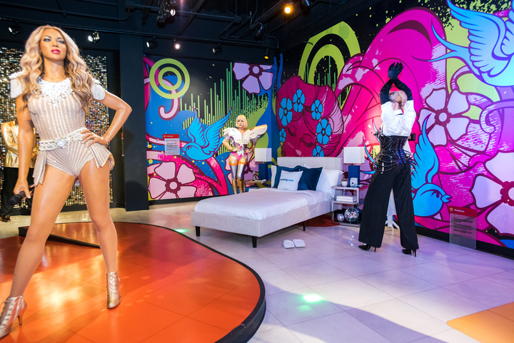 Back in April, groups of four were able to book a one-night stay at different Madame Tussauds locations including in San Francisco, where guests could share their sleeping quarters with Beyoncé.