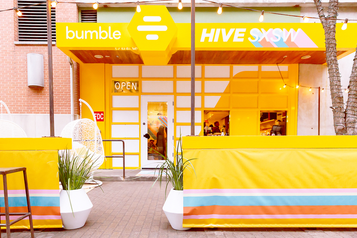 At this year's South by Southwest, Bumble took over local Austin favorite Jo's Coffee to create the Bumble Hive, which attracted more than 20,000 visitors.