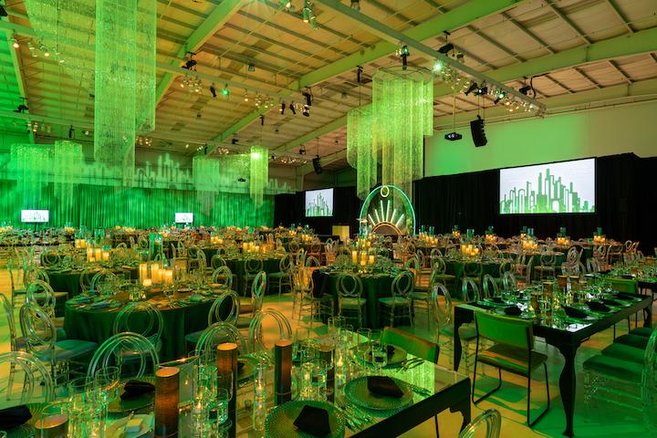 Wicked Witch Green Lighting at the 6th annual John Muir Health Foundation Gala at the Concord Jet Center in Concord, CA.