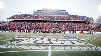 The region's premier college football bowl game, the Military Bowl presented by Northrop Grumman raised at least $100,000 for the USO in 2018, the ninth year in a row that fund-raising reached six figures. The University of Cincinnati beat Virginia Tech 35-31, as a crowd of 32,832 cheered from the stands of the Navy-Marine Corps Memorial Stadium in Annapolis. Next: December 27, 2019