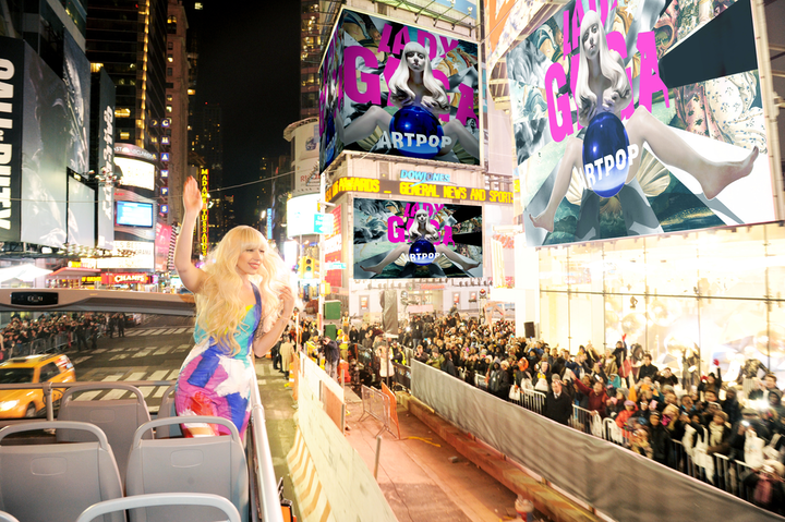 Lady Gaga performed in Times Square in 2013 during an H&M store opening.