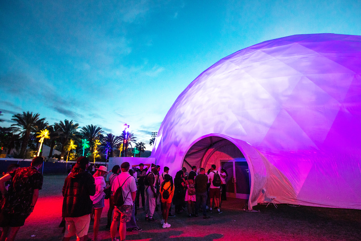 HP's 11,000-square-foot Antarctic Dome at Coachella in April was billed as the largest temporary geodesic projection dome in the world. See more: How HP Created the Coolest Spot at Coachella