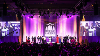 "Up from #6 The primary fund-raiser for the organization, the event has become the largest nonpolitical event in Washington, D.C. The theme of the 2019 gala, which marked the 32nd year of the benefit, was ""Developing Minds… Delivering Dreams."" More than 1,600 guests, including 400 students from historically black colleges and universities, attended the gala, held at the Washington Marriott Wardman Park. Next: October 2020"