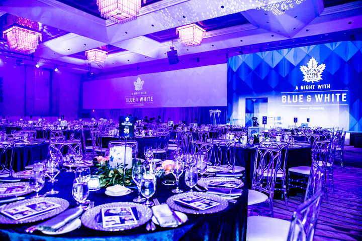 "The Maple Leaf Sports and Entertainment Foundation's annual ""A Night With Blue & White"" gala raised $460,000 to support youth community sports programs."