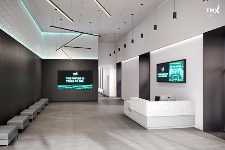 TMX Market Centre pre-function space.
