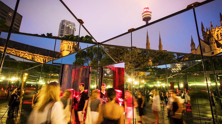 """Luminato, one of Toronto's largest arts and culture events, has officially been canceled for 2020. The international festival, which launched in 2007, was developed to help revitalize the city's art scene after the SARS outbreak of 2003. Last year's event had a """"House of Mirrors"""" (pictured) that invited people to walk through a disorienting, kaleidoscope-like atmosphere that presented reflections from numerous angles."""