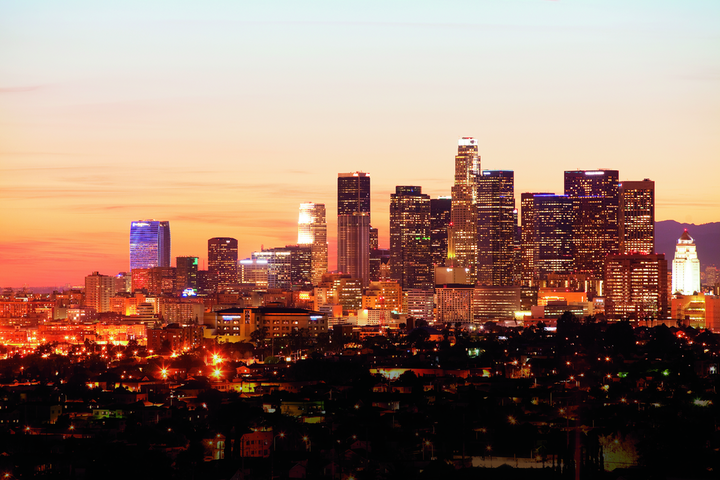 """The Los Angles Tourism & Convention Board has launched a comprehensive resource page for event planners, offering virtual site inspections for more than 35 venues, plus customizable presentation tools and an online venue finder. The site also offers downloadable Zoom backgrounds (pictured) of sunsets over iconic L.A. landmarks, and is live streaming sunsets from the Hotel Erwin every evening. """"Our team is harnessing the creativity, innovation, and cutting-edge technology Los Angeles is known for to help planners navigate the unforeseen challenges brought by the pandemic,"""" said Darren K. Green, the board's senior vice president for sales, in a statement. """"Like any producer knows, events—like movies—are one part logistics, one part hard work, and a sprinkling of magic. These tools will help set the stage."""""""