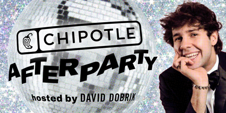 Chipotle, the official restaurant partner for Teen Vogue's Virtual Prom, hosted an after-party with digital star David Dobrik via Instagram. The event included 10,000 free food giveaways, interactive games, and a $25,000 scholarship announcement.