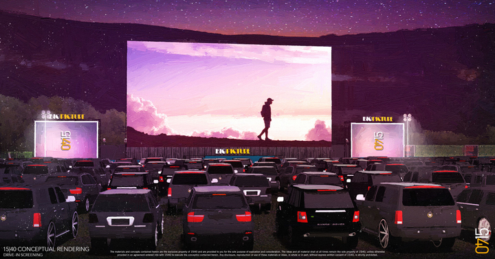 Once stay-at-home orders ease a bit, film premieres and other events can take over existing drive-in theaters or be custom-built at outdoor venues, proposes the team at 15/40 Productions in Los Angeles.