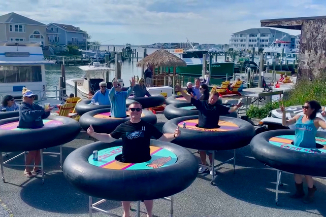 Revolution's Bumper Tables debuted at Fish Tales in Ocean City, Maryland.