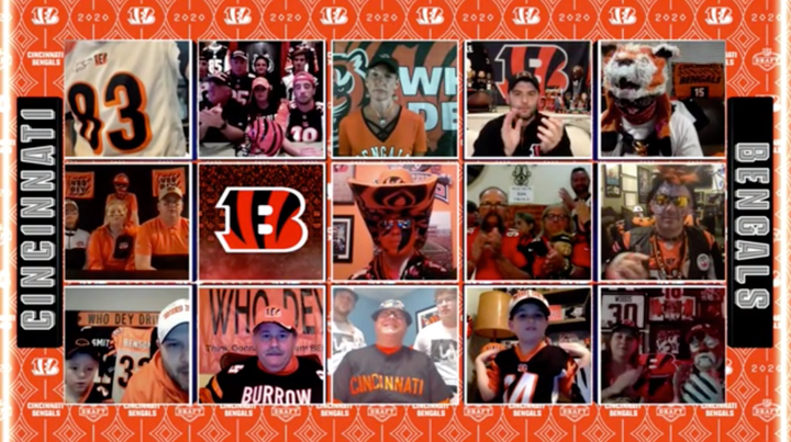 The NFL worked with each of the clubs, such as the Cincinnati Bengals, to identify fans to include during the Thursday and Friday night broadcasts via video conference calls.