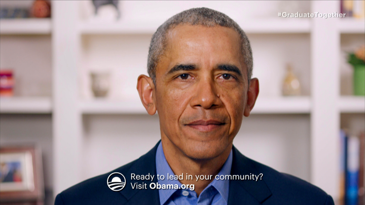 President Barack Obama gave a virtual commencement speech during Graduate Together: America Honors the High School Class of 2020, which aired May 16 on television networks nationwide.