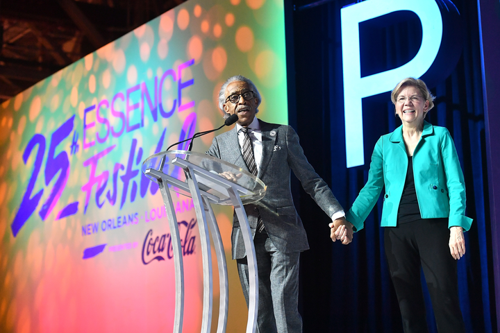Last year, Rev. Al Sharpton and Sen. Elizabeth Warren appeared on stage at the Essence Festival, held at the convention center in New Orleans.