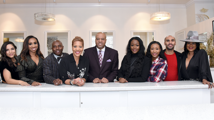 Founders of The Black Table, from left: Lauren Montgomery of Collective Rentals; Leslie Jones of Leslie Marie Events; William P. Miller of WP Miller Special Events; Tammy Dickerson of The Baker Group; Damon Haley of Exhilarate Experiential; Mena and Shantee Wright of Wright Productions; Todd Hawkins of The Todd Group; and Diann Valentine of Exhilarate Experiential