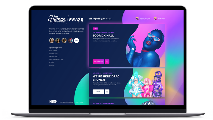 HBO launched its first digital Pride via its Human By Orientation site, which will feature daily events from June 18-28. On Friday, Todrick Hall will perform live in celebration of Juneteenth.