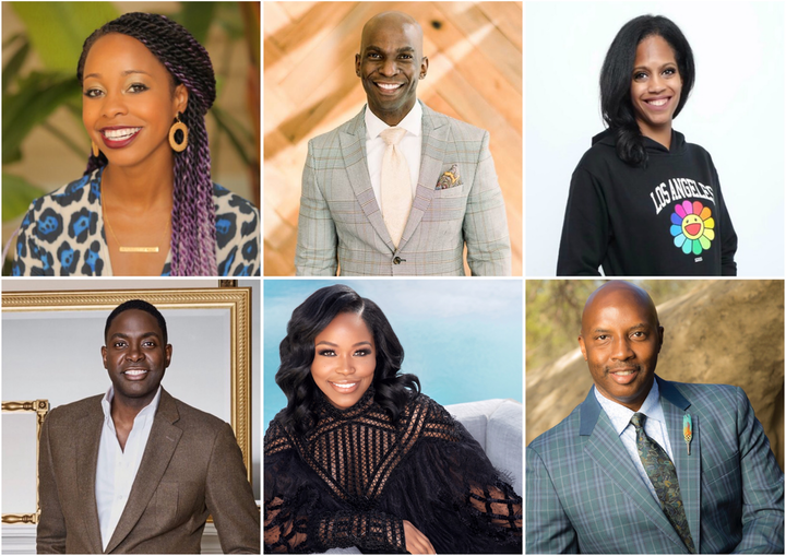 (Clockwise from top left): Erica Taylor Haskins, Andrew Roby, Anika D. Grant, William P. Miller, Miatta David Johnson, André Wells