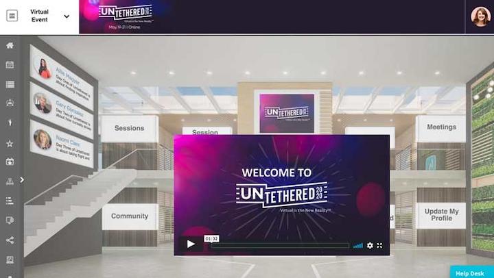Untethered Virtual Lobby