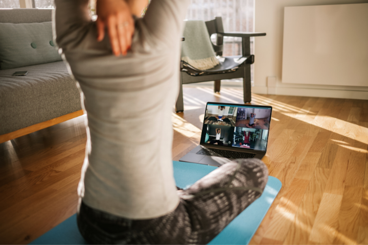 Integrate wellness activities into your virtual event.