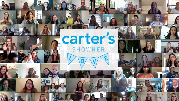 More than 120,000 moms and moms-to-be entered for a chance to attend the Carter's virtual baby shower. Ultimately, 100 women were chosen.