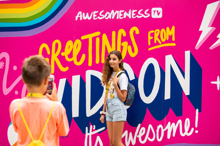In 2019, VidCon drew some 75,000 attendees to the Anaheim Convention Center. Outside the venue, AwesomenessTV worked with Mirrored Media to create a colorful photo op. See more on last year's event: How VidCon Attracts 'the Most Media-Savvy Audience in the World'
