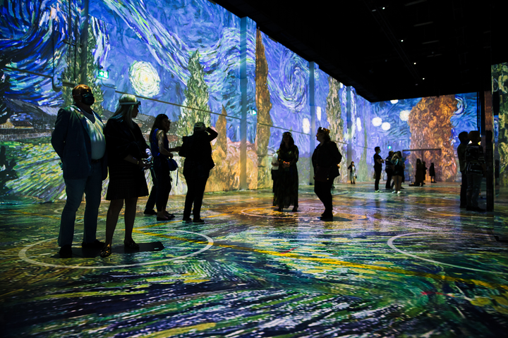 Toronto's Immersive van Gogh exhibition features 600,000 cubic feet of projection, showcasing 400 images from the painter's iconic catalog.