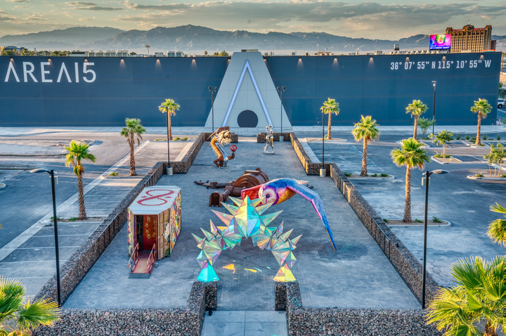 When it opens in Las Vegas in September, art and entertainment complex AREA15 will include Art Island, an open-air gallery of festival-style artwork.