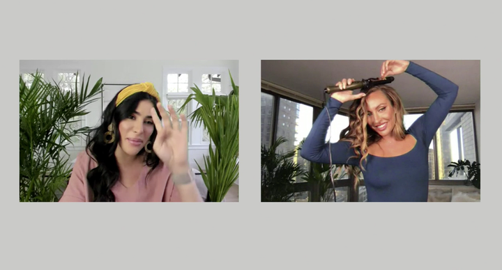 During the virtual launch event, hairstylist Jennifer Yepez demonstrated how to use one of the hot tools from the new collection, which was designed in collaboration with content creator Sazan Hendrix.