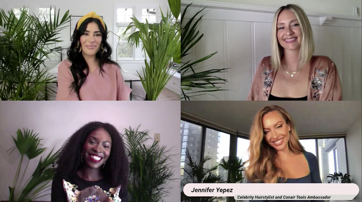 "The launch event was hosted on BrandLive's digital platform and featured ""live performances"" (aka tutorials) from Conair x Scunci celebrity stylists Laura Polko, Lacy Redway, and Jennifer Yepez."