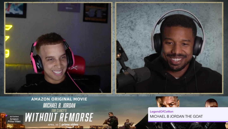Jordan se asoció con el creador de contenido de Twitch Swag para una transmisión en vivo, en la que el actor habló con los fanáticos, respondió preguntas y ofreció algunas sorpresas.