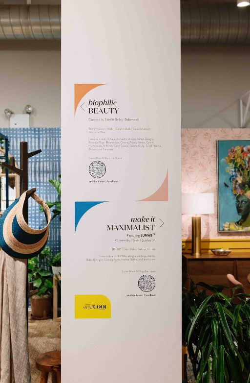 During the in-person event, attendees were able to scan a QR code displayed in each designer room to access a list of products available for purchase.